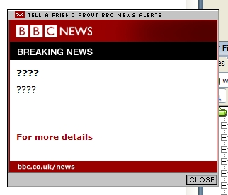 BBC News Alert