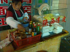 Makin' Cold Noodles From A Wheeled Cart Off the Streets of Shanghai