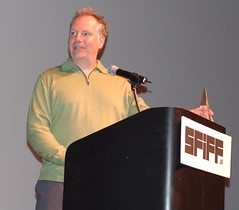 Guy Maddin accepting the Persistence of Vision award