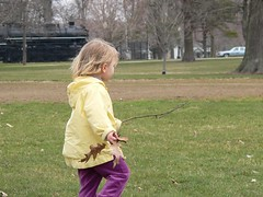 frankie at the park, with treasures