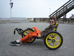Jason on banana bike