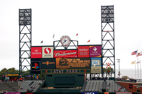 AT&T Park: Scoreboard
