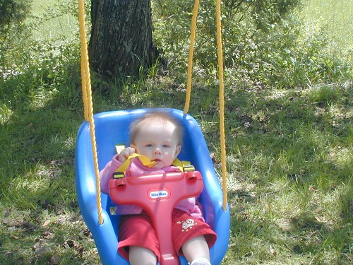 Ivy likes her special swing, too