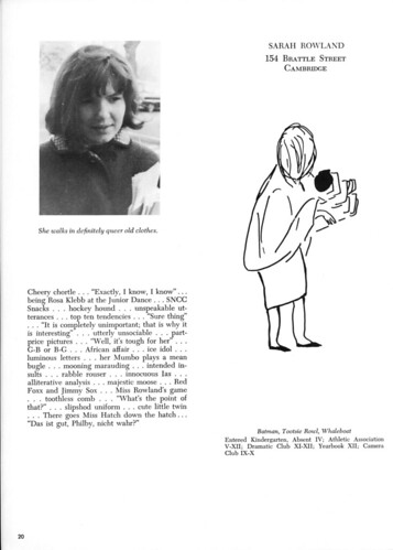 Sarah Rowland - Yearbook Page