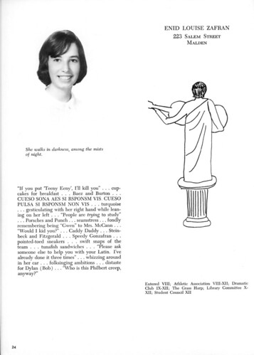 Enid Zafran - Yearbook Page
