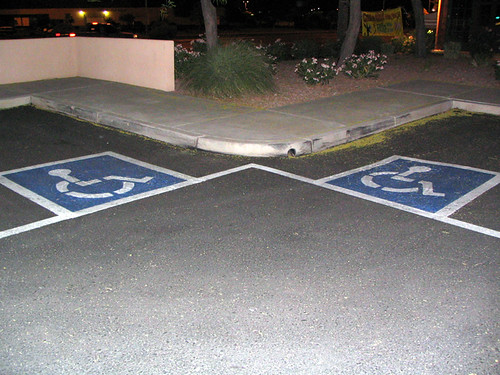 Armless Handicapped Parking Spot 02