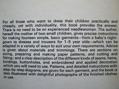 clothes for young children - back