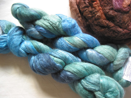 Chasing Rainbows Dyeworks, silk/merino in Lagoon