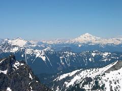 Columbia Peak, Kyes Peak And Glacier Peak From Baring Mtn