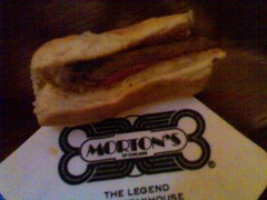 Steak Sandwiches from Morton's Happy Hour