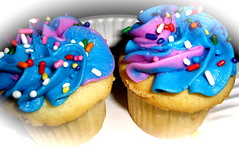 Blue & Purple Swirl Cupcakes!