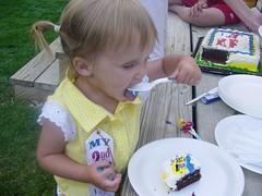olivia eating her cake