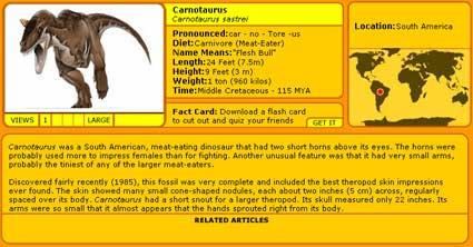 carnotaurus's ID card