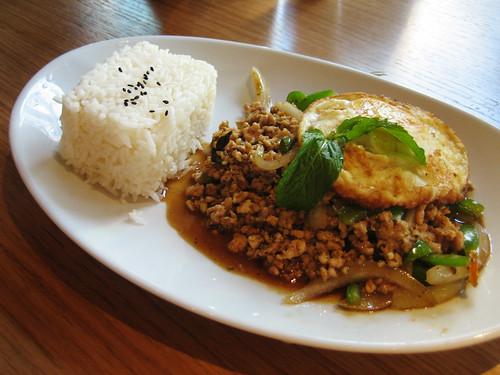 Thai basil with egg