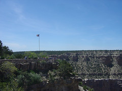 Grand Canyon Village - Platform & Flag