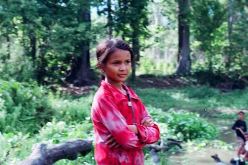 A young Cambodian living near Preah Khan temple, Preah Vihear province.
