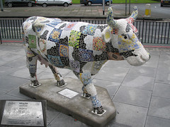 No 34 Mosaicow at Edinburgh Cow Parade 2006