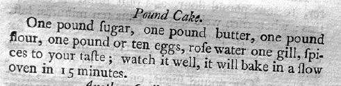 Pound Cake recipe - 1798
