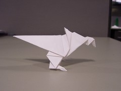 Paper dino - Profile view