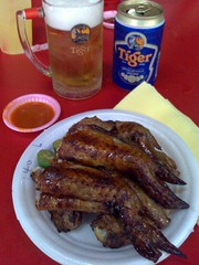 Chicken Wings and Tiger Beer