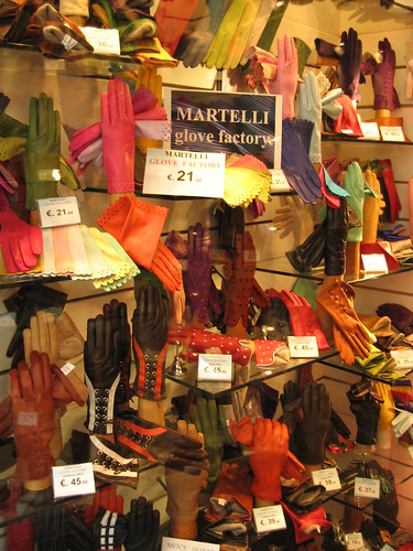 Glove store in Florence