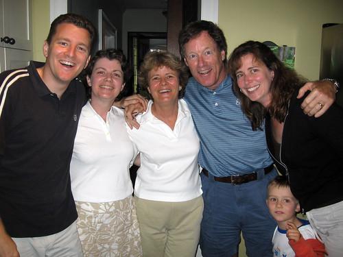 Kirk, Kim, Bev, Gord, Karen, and Owen Jackson)