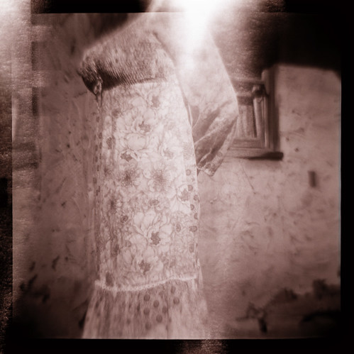 Untitled Diana photograph with light leak by Sean Rhode