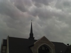 Rain clouds over 1st Pres, Edmond
