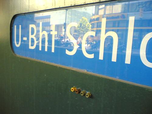 U-Bahn Schloßstraße: mit Steckeranschluss