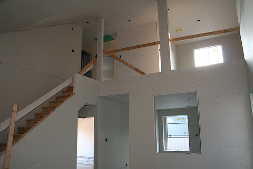 Interior with fresh drywall