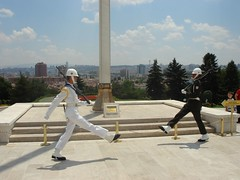 Silly walks of the guards at Anitkabir
