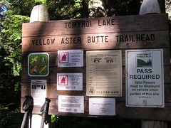 Trailhead for Yellow Aster Butte
