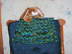 bunny and shawl