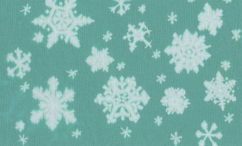 snowflakes on lighter fabric