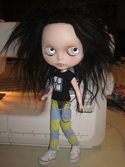 Striped Print Pants for Blythe photo by Blue-Eyed Undertaker