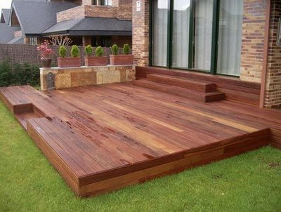 Maderas recomendadas para exterior for Simple platform deck plans