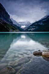 Subdued beauty at Lake Louise photo by Jackpicks