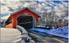 Paper Mill Covered Bridge Vermont photo by Waterfall Guy