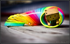 Danbo plays with the Slinky! photo by Chris J Bowley