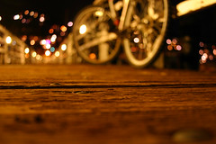 Blurry, Bokeh: Bike photo by Casey Poore