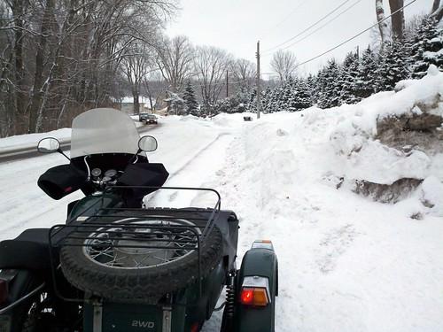 Snowy commute #ural