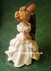 Bride and groom cake topper created by Lindy Smith photo by Lindy's cakes