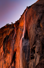 Double Firefall (Horsetail Falls, Yosemite National Park). photo by Robin Black Photography