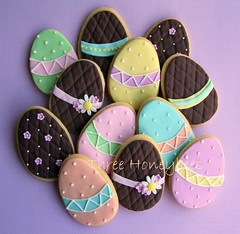 Easter Egg Cookies photo by Three Honeybees