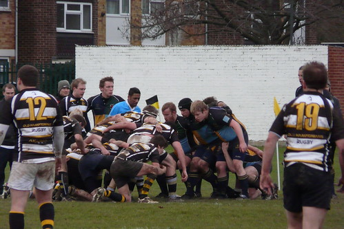 Scrum down - Hackney suffered in the second half.