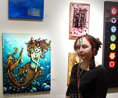 My Painting at the Love Show photo by lucidRose