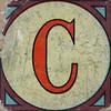 Vintage Brick Letter C