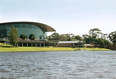 Adelaide Convention Centre and rowing clubs from the River Torrens photo by Adriano_of_Adelaide