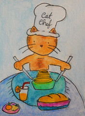 Cat Chef [Traded] photo by Aeneadellaluna