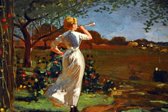Winslow Homer - The Dinner Horn at Boston Museum of Fine Arts photo by mbell1975